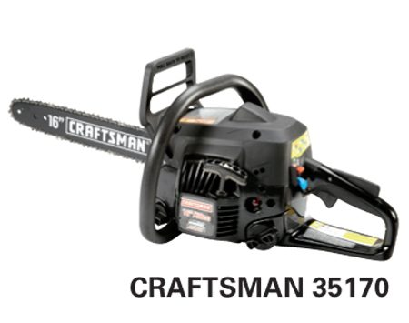 <b>Craftsman 35170</b></br> <p>Engine size: 38 cc<br />   Bar length: 16 in.<br /> Price: about $150 </p>
