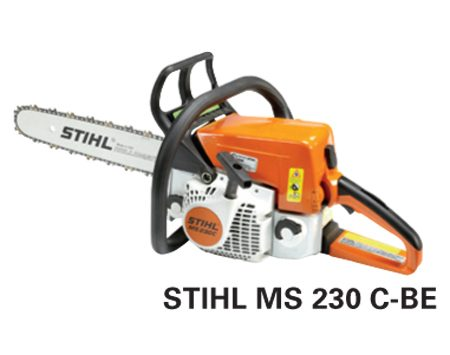 <b>Stihl MS 230 C-BE</b></br> <p>Engine size: 40.2 cc<br />   Bar length: 16 in.<br /> Price: about $350 </p>