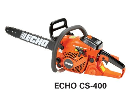 <b>Echo CS-400</b></br> <p>Engine size: 40.2 cc   Bar length: 16 in.  Price: about $300</p>