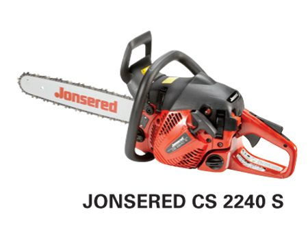 <b>Jonsered CS 2240 S</b></br> <p>Engine size: 40.9 cc<br />   Bar length: 16 in.<br /> Price: about $300 </p>