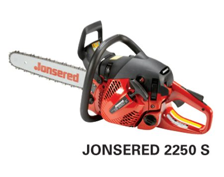 <b>Jonsered 2250 S</b></br> <p>Engine size: 50.2 cc<br />   Bar length: 16 in. – 18 in.<br /> Price: about $390 </p>