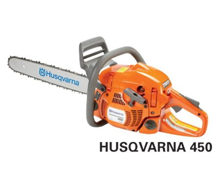 <b>Husqvarna 450</b></br> <p>Engine size: 50.2 cc<br />   Bar length: 12 in. – 20 in.<br /> Price: about $359 </p>