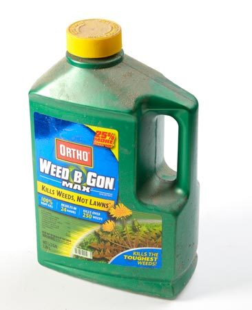 <b>Weed killer concentrate</b></br> Concentrated liquid weed killers cost less in the long run than premixed weed killers.