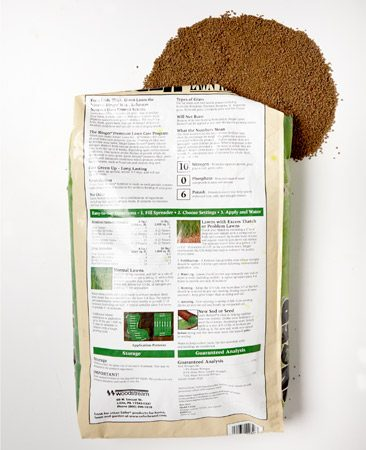 <b>Directions are on the bags</b></br> Be sure to read and follow the directions on the fertilizer bags and other lawn treatments.