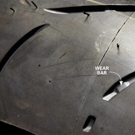 <b>New tires: $300 to $500</b></br> Compare the tread depth with the height of the wear bar. If the wear bar is close to or even with the tread, the tire is worn out and must be replaced. Also, check for cracks in the rubber. That's a sign of tire aging, requiring immediate replacement.