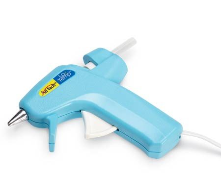 "<b>Glue gun</b></br> <p>A low-temp   hot-glue gun is safer   than higher-temp versions.   The mini size is often called   a ""craft"" glue gun and is   perfect for smaller hands.   Available at hobby shops,   home centers and online   retailers  (about $7). </p>"