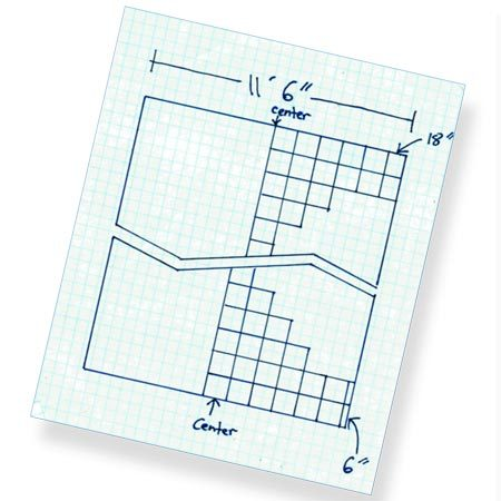 <b>Ceiling grid sketch</b></br> Sketch and measure the ceiling so you can position the grid and add up the materials you need.