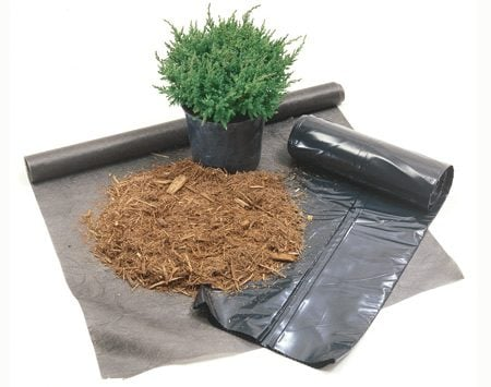 <b>Weed barrier options</b></br> Use an organic mulch or high-quality landscape fabric. Don't use black plastic.