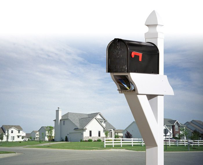 Completed low-maintenance mailbox