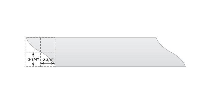 Figure B: Newspaper box sides