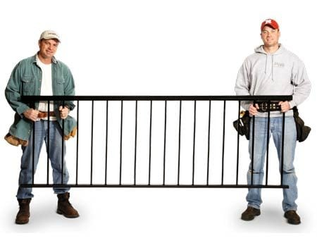 <b>Preassembled aluminum railing</b></br> A preassembled railing simplifies the long, tedious process or rail building.