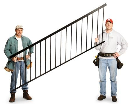 "<b>Stair railing</b></br> You can ""rack"" the same railing to the  angle that fits your stairway."