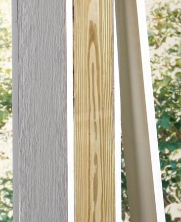 <b>Wrap a wooden post</b></br> Wrap a wooden post with PVC to improve appearance.