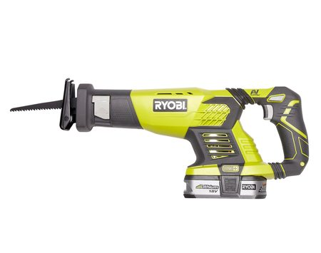 <b>Cordless reciprocating saw</b></br> The Ryobi one+ Lithium-ion cordless reciprocating saw with battery and charger costs about $155.