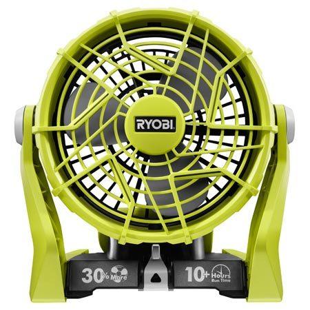 <b>Cordless Fan</b></br> Part of Ryobi's 18-volt system