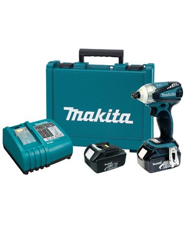 <b>Impact driver kit</b></br> The Makita 18V Cordless LXT Lithium-Ion 3-Speed Brushless Motor Impact Driver Kit (about $300) comes with two batteries, charger, belt clip and case.