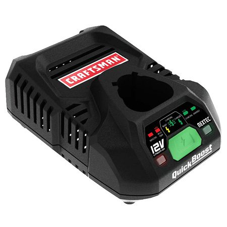 <b>Craftsman battery charger</b></br> The Craftsman NEXTEC Quick Boost 12V Charger delivers a big initial charge.