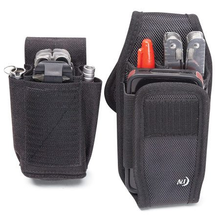 <b>Versatile belt cases</b></br> Skinth Sheaths (left) and Pock-its Plus Utility Holster (right) will hold most handy pocket tools.