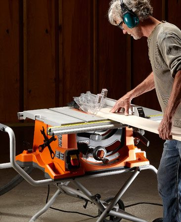 <b>Running a table saw review test</b></br> For accurate results in our table saw review, we put seven saws through a variety of setting up and cutting tests.