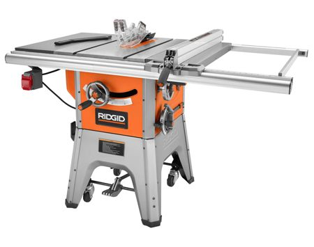 Ridgid R4512 tested in this table saw review