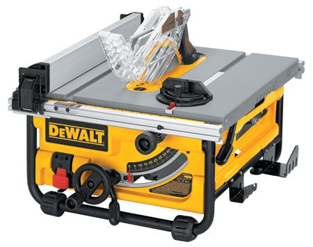 DeWalt DW745 tested in this table saw review
