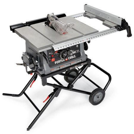 <b>Porter-Cable PC B220TS</b></br> This saw has a handwheel for adjusting the blade tilt precisely. Cost: $299