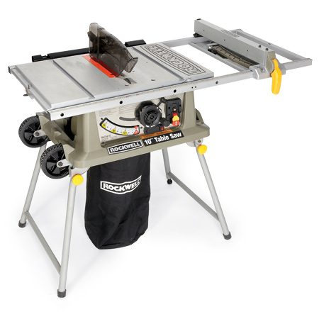<b>Rockwell RK 7241S</b></br> This saw has a motor that tilts the opposite way from most table saws for bevel cuts. Cost: $440
