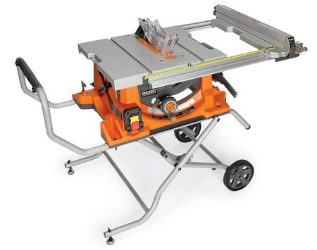 <b>Ridgid R4510</b></br> This saw also has many fine features including a versatile miter gauge and a fence designed for easily mounting accessories. Cost $499