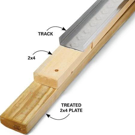 Wood floor plate