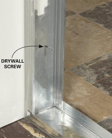 Stud over first drywall sheet