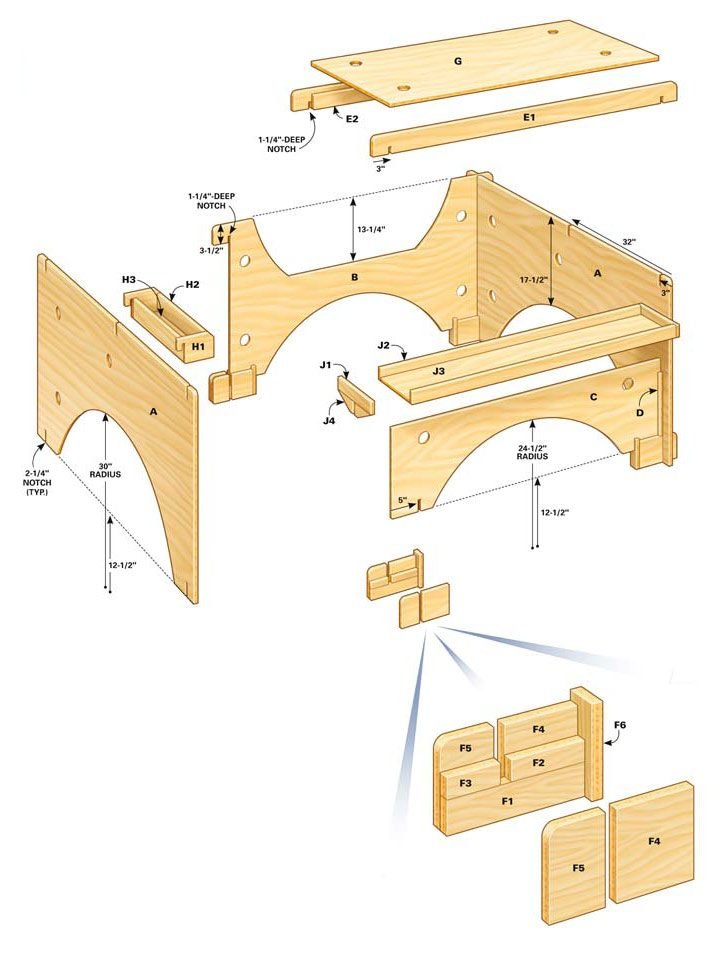 Figure A: Table saw table system