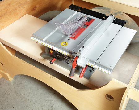 Adaptation for benchtop saw