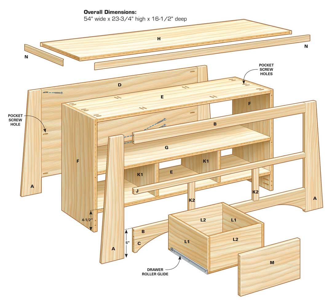 Diy tv stand the family handyman Wardrobe cabinet design woodworking plans