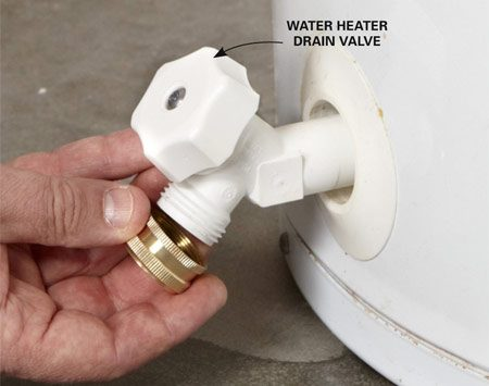 <b>Stop a water heater drain valve leak</b></br> Screw on a hose endcap to stop the leak.