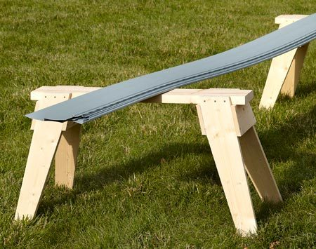 """<b>Ken's favorite sawhorse</b></br> """"I still have the first pair of these horses that I built 30 years ago. I copied the design from the ones my grandfather built 30 years before that."""""""