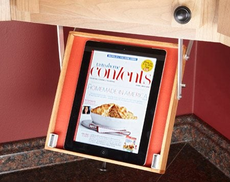 <b>Keep your tablet handy—and safe</b></br> Follow recipes online without worrying about spills frying your expensive tablet.