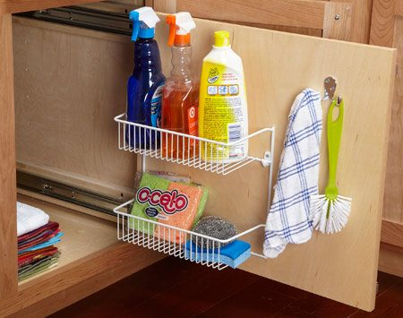 <b>Better base cabinet access</b></br> Keep small stuff from getting lost in deep base cabinets.