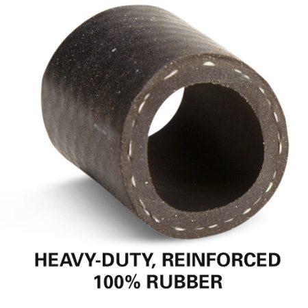 Heavy-duty, reinforced 100 percent rubber