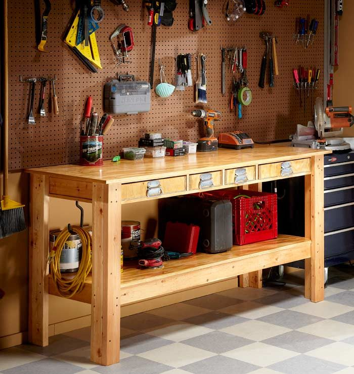 Do It Yourself Garage Workbench Plans: Cnc Router, Workbenches And