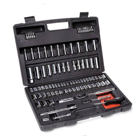<b>Husky kit # 69026</b></br> This kit has the largest socket assortment in this category and most other good features.