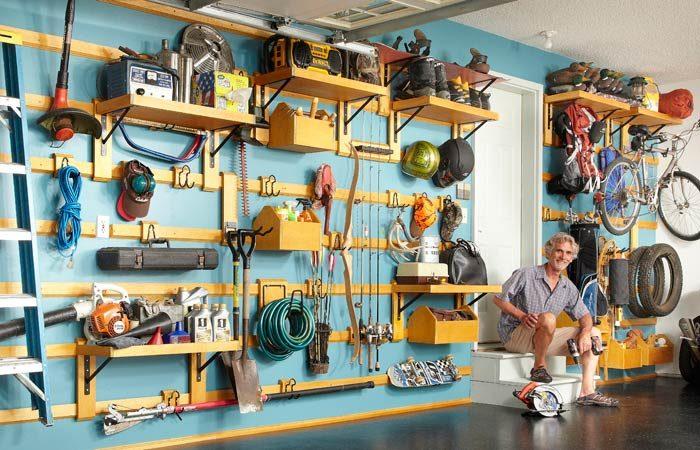 Customizable garage storage system