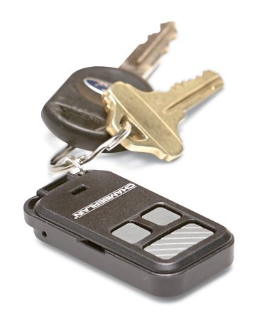 <b>Keep your opener with your keys</b></br> It's simple: If you take your garage door opener with you, thieves can't steal it from your car. A keychain remote just makes sense.
