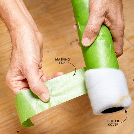 <b>Not just for masking anymore</b></br> One way to remove the fuzz is to wrap masking tape all the way around the roller cover. When you pull the tape off, the excess fuzz will be pulled off along with it.
