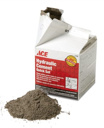<b>Jeff Patterson on hydraulic cement</b></br> I used hydraulic cement to fill a large gap in our foundation wall that was allowing ants to get into the house. The cement sets up in five minutes and also stops water leaking into the basement. Double whammy!