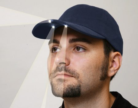Baseball cap with LED lights