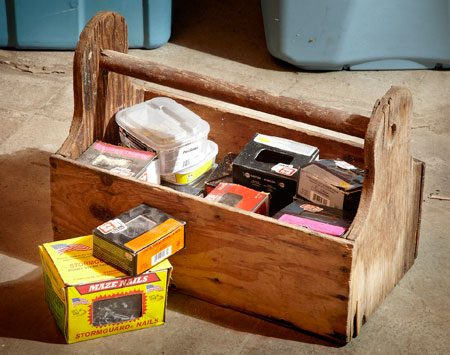 <b>Nail and screw toolbox</b><br/>Bring fasteners in their own toolbox, and make sure you have plenty extra.