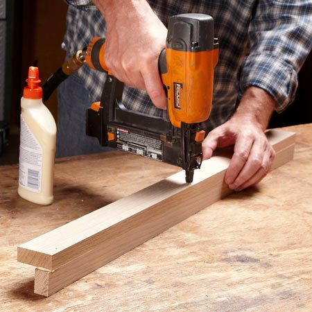 <b>Photo 4: Assemble corner stiles, then cut to length</b></br> <p>Start with corner stile parts (E and F) that are about an inch longer than their final length. That way, you don't have to worry about aligning the ends as you join them. Then trim the ends to length.</p>