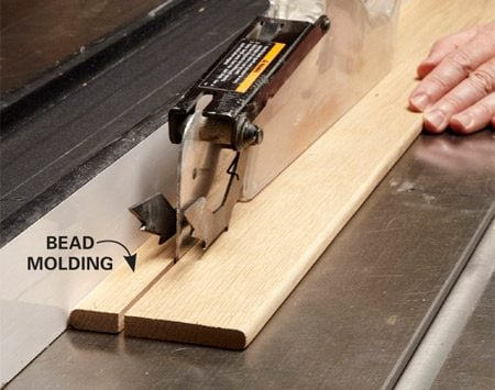 <b>Photo 10: Make bead molding in five minutes</b></br> <p>Round over both edges of a 1/2-in.-thick board, sand the edges and then cut the completed moldings off the board.</p>