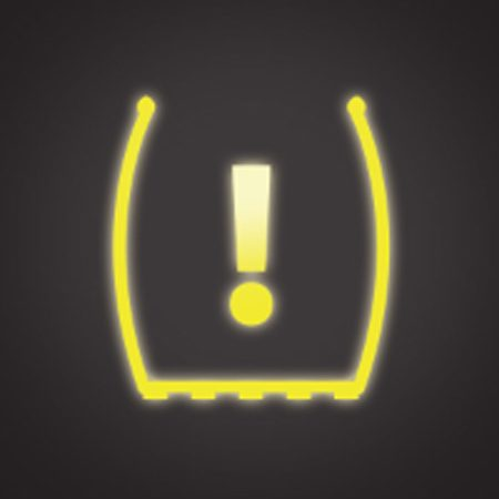 <b>Tire Pressure Sensor light</b></br> The Tire Pressure Sensor light tells you that you have an underinflated tire.