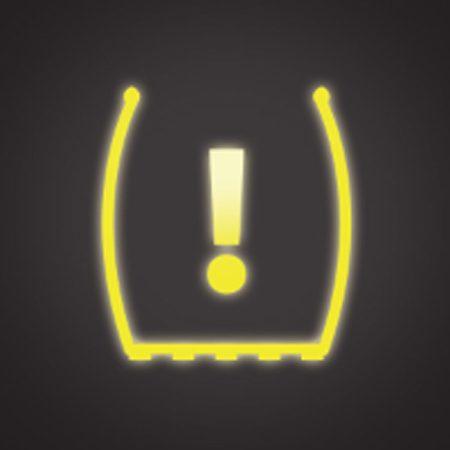 <b>Tire Pressure Sensor light</b></br> The Tire Pressure Sensor light tells you that you have an underinflated tire.